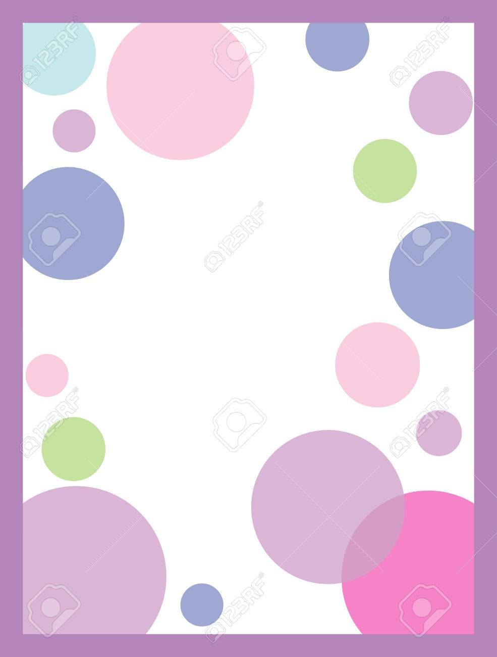 pink polka dot invitation background royalty free cliparts vectors