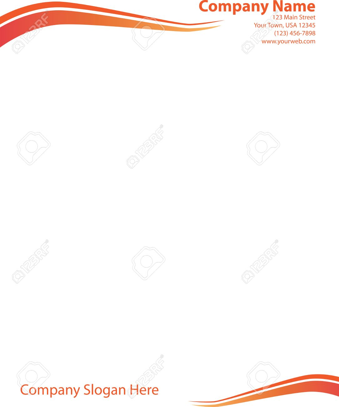 Wave letterhead template orange red royalty free cliparts vectors vector wave letterhead template orange red altavistaventures Gallery