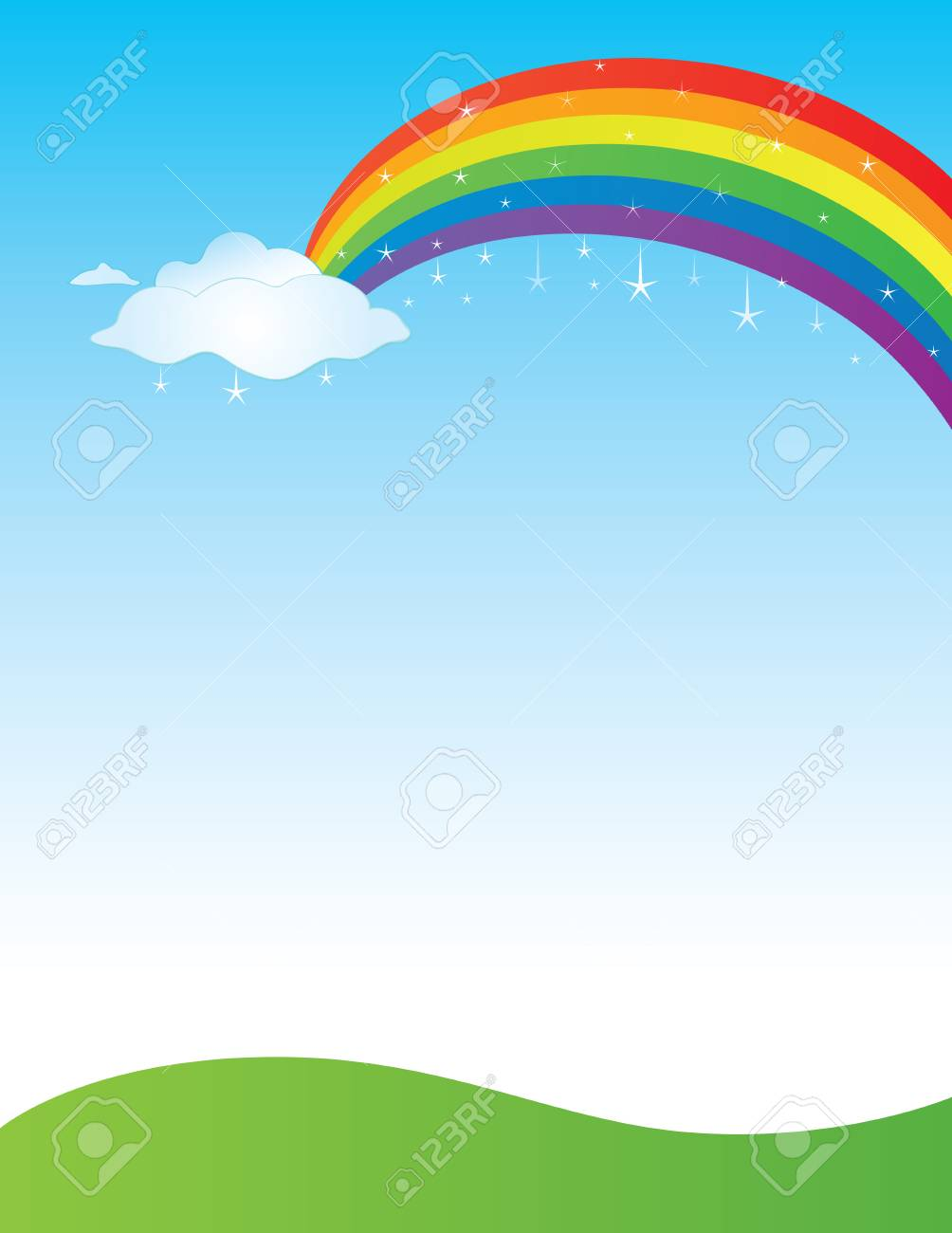 rainbow background template royalty free cliparts vectors and