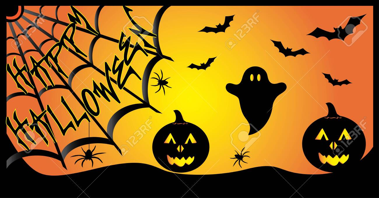 Happy Halloween Banner Royalty Free Cliparts Vectors And Stock Illustration Image 122787357