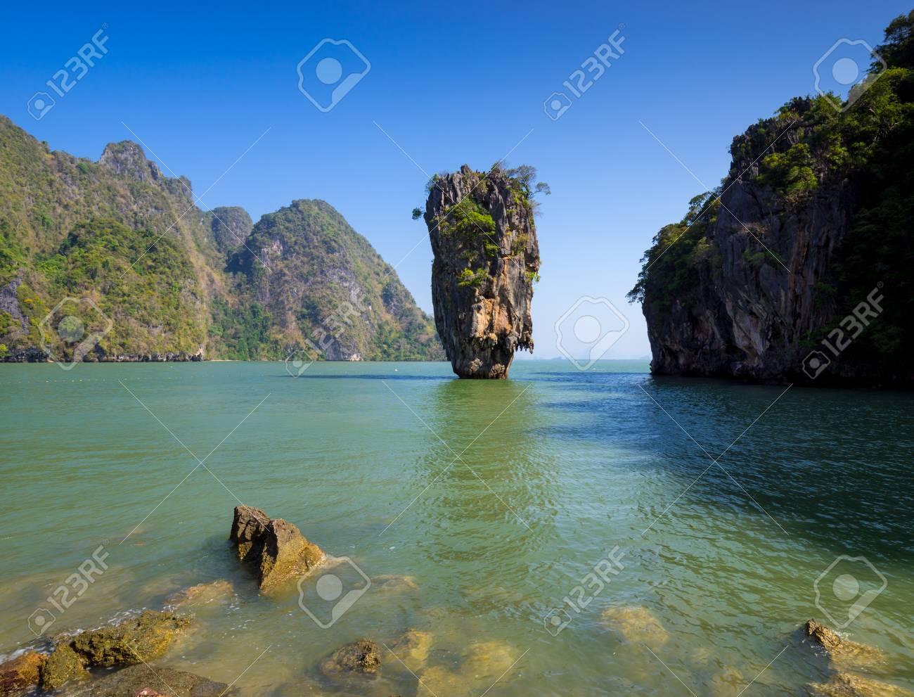 Khao Tapu Or James Bond Island Phang Nga Bay Thailand