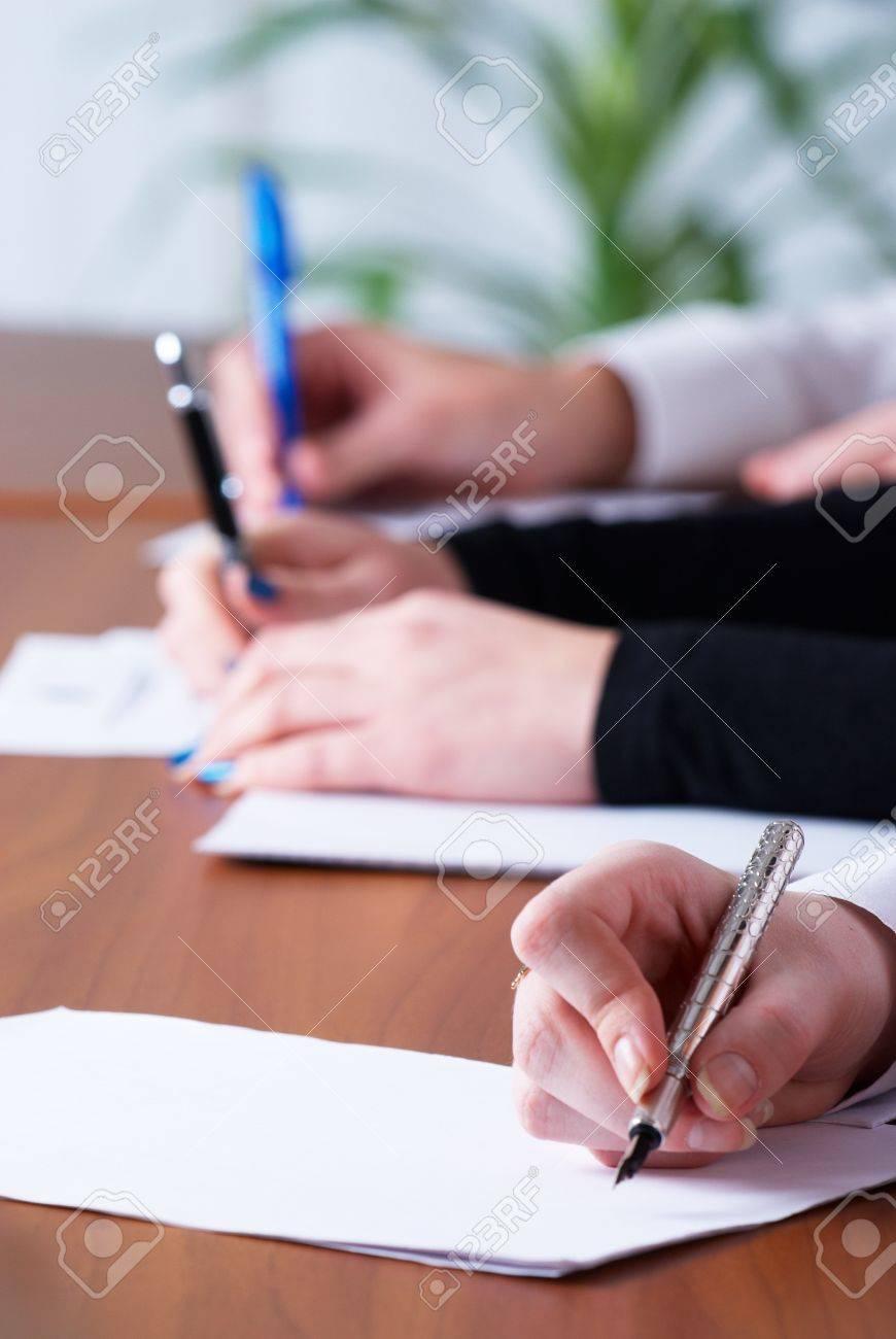 Writing girl Stock Photo - 8575583