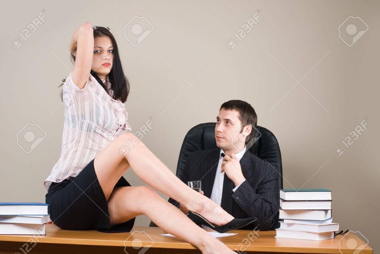 Boss and him secretary Stock Photo - 8800508