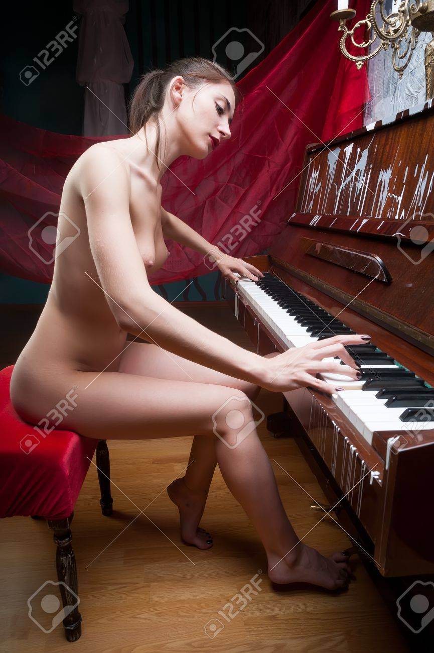 Nude girls with clarinet #14