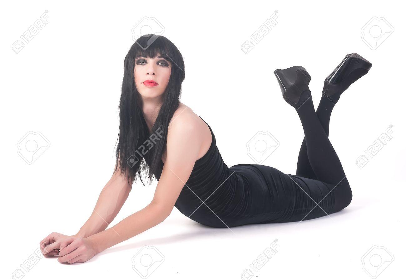 Frau sich mann verkleidet als Karneval als