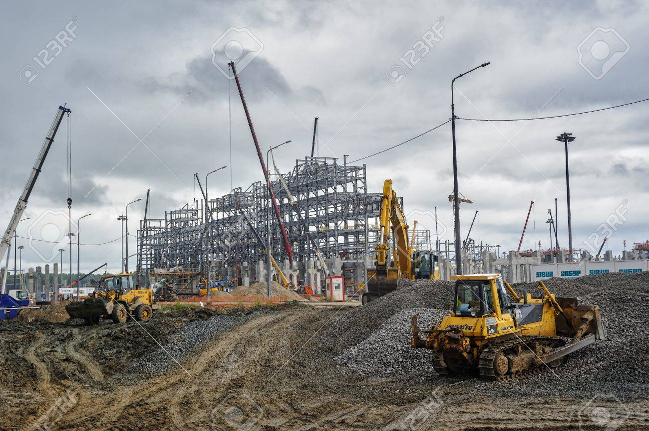 Construction site of petrochemical plant  Tobolsk