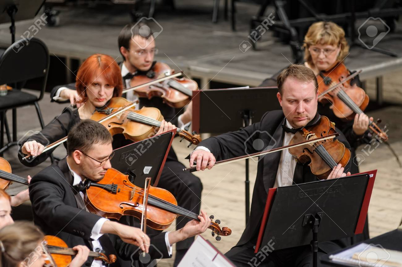 Tyumen, Russia - January 25, 2017: Concert of orchestra of the