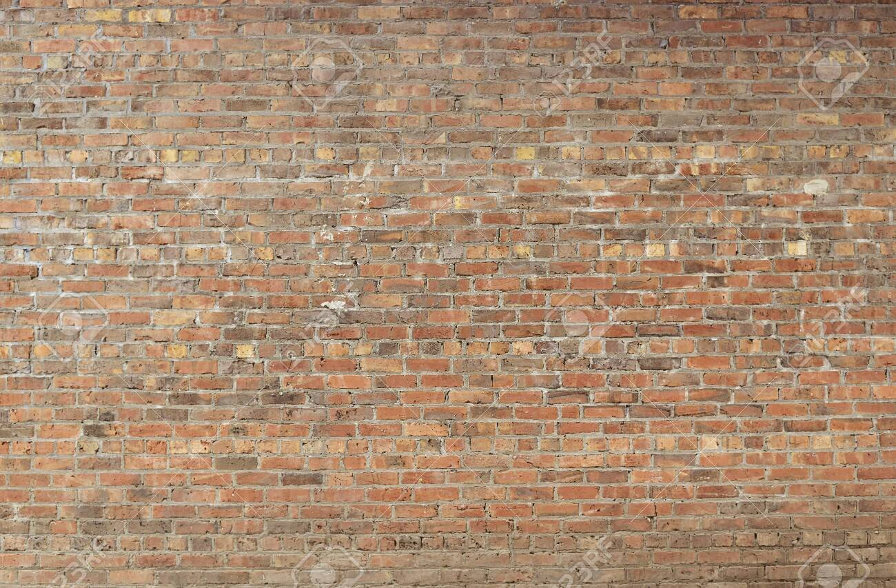 Old red brick wall background texture close up - 136591328