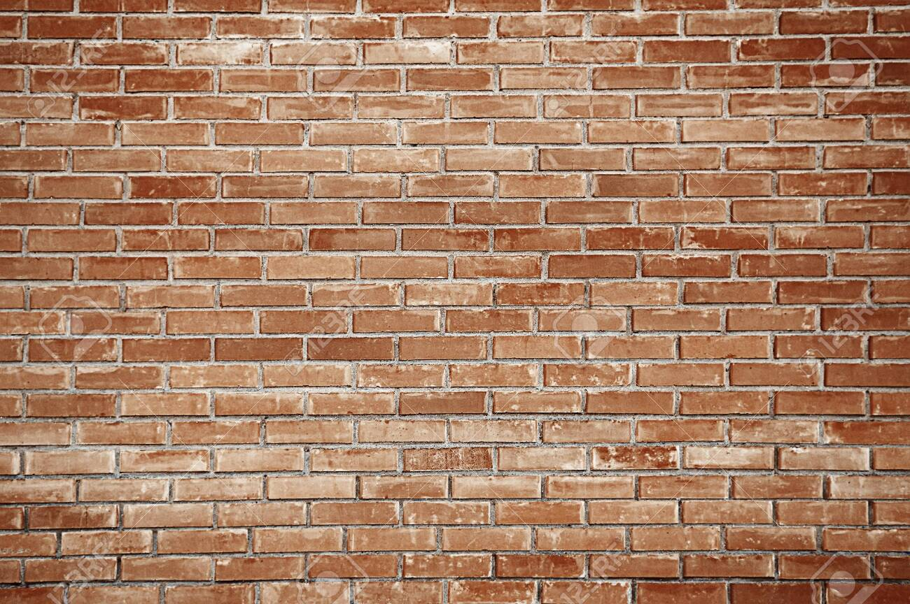 Old red brick wall background texture close up - 143675548