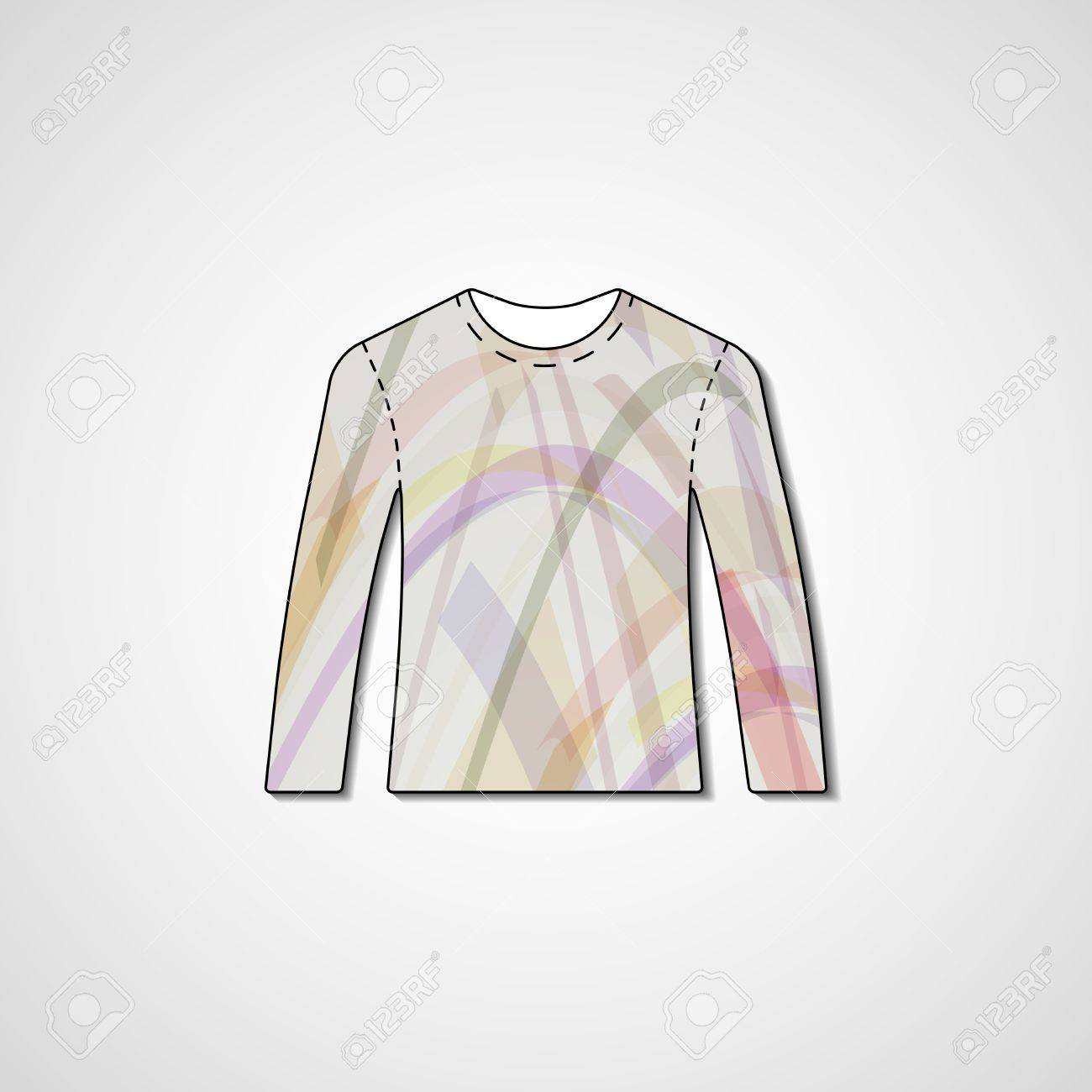 073bd9b5a Abstract Illustration On Sweater