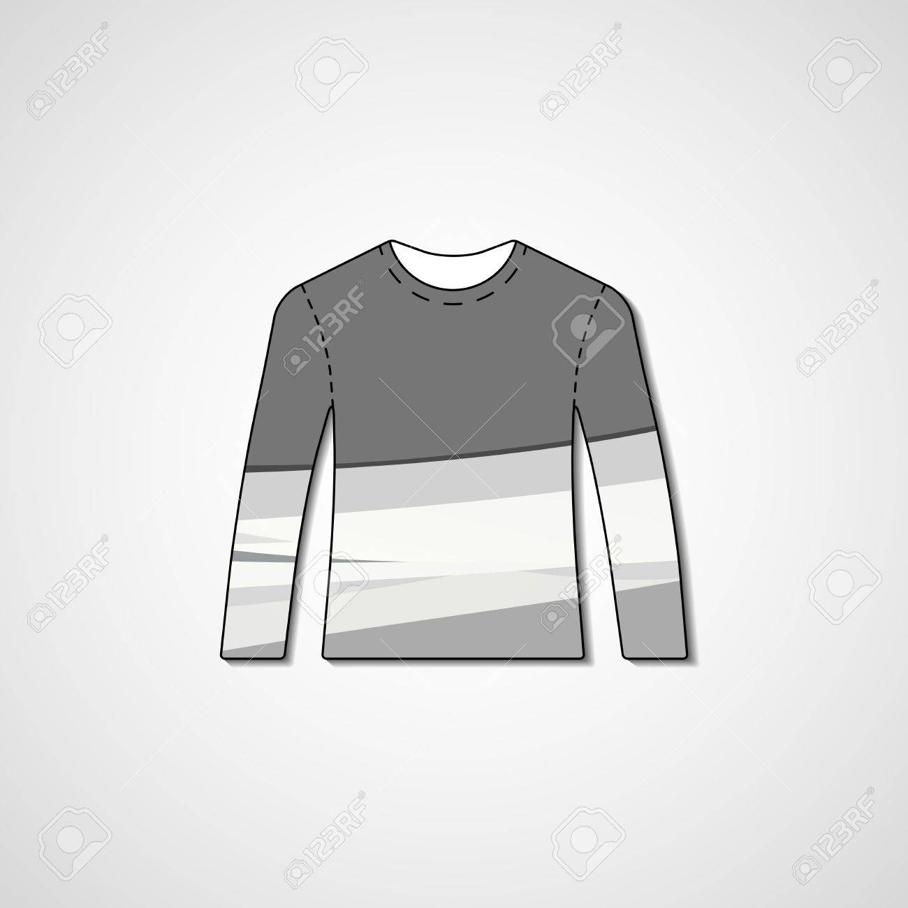 Abstract Illustration On Sweater, Template Editable. Royalty Free ...