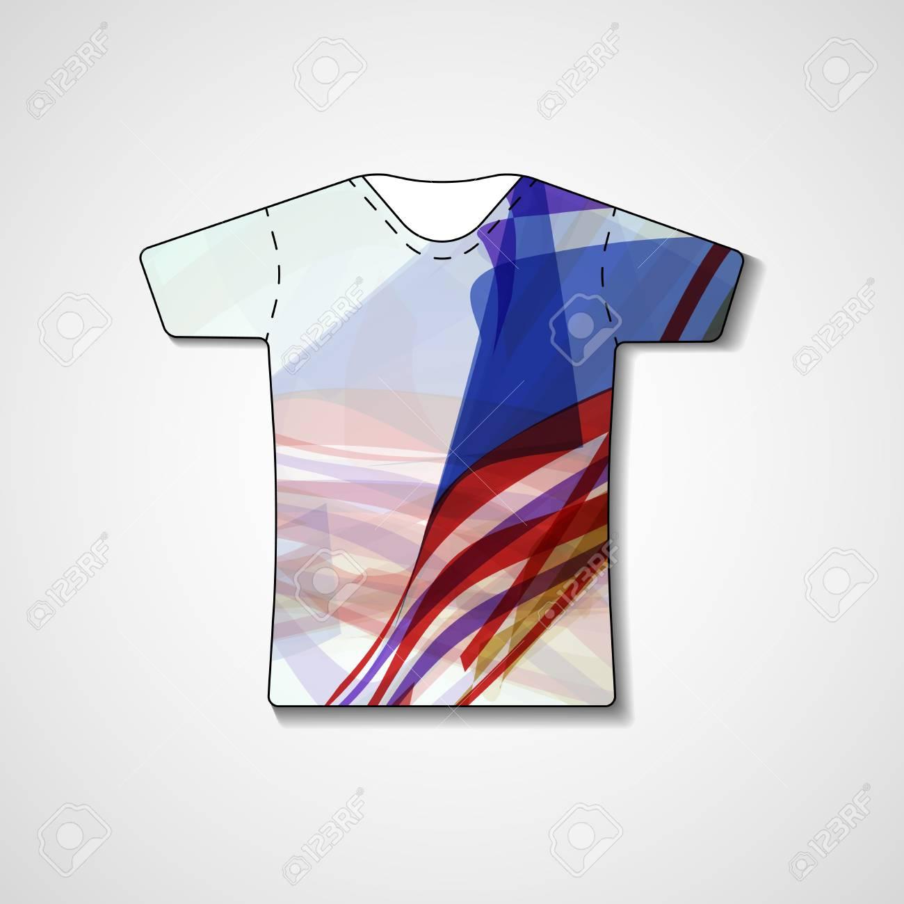 Ilustración Abstracta En La Camiseta, Plantilla Editable ...