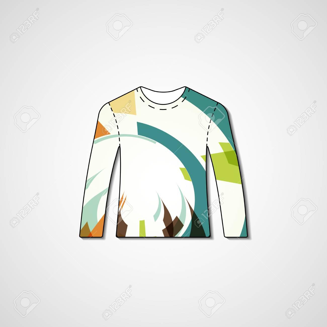 bbb3d80ef Abstract illustration on sweater Stock Illustration - 33806561
