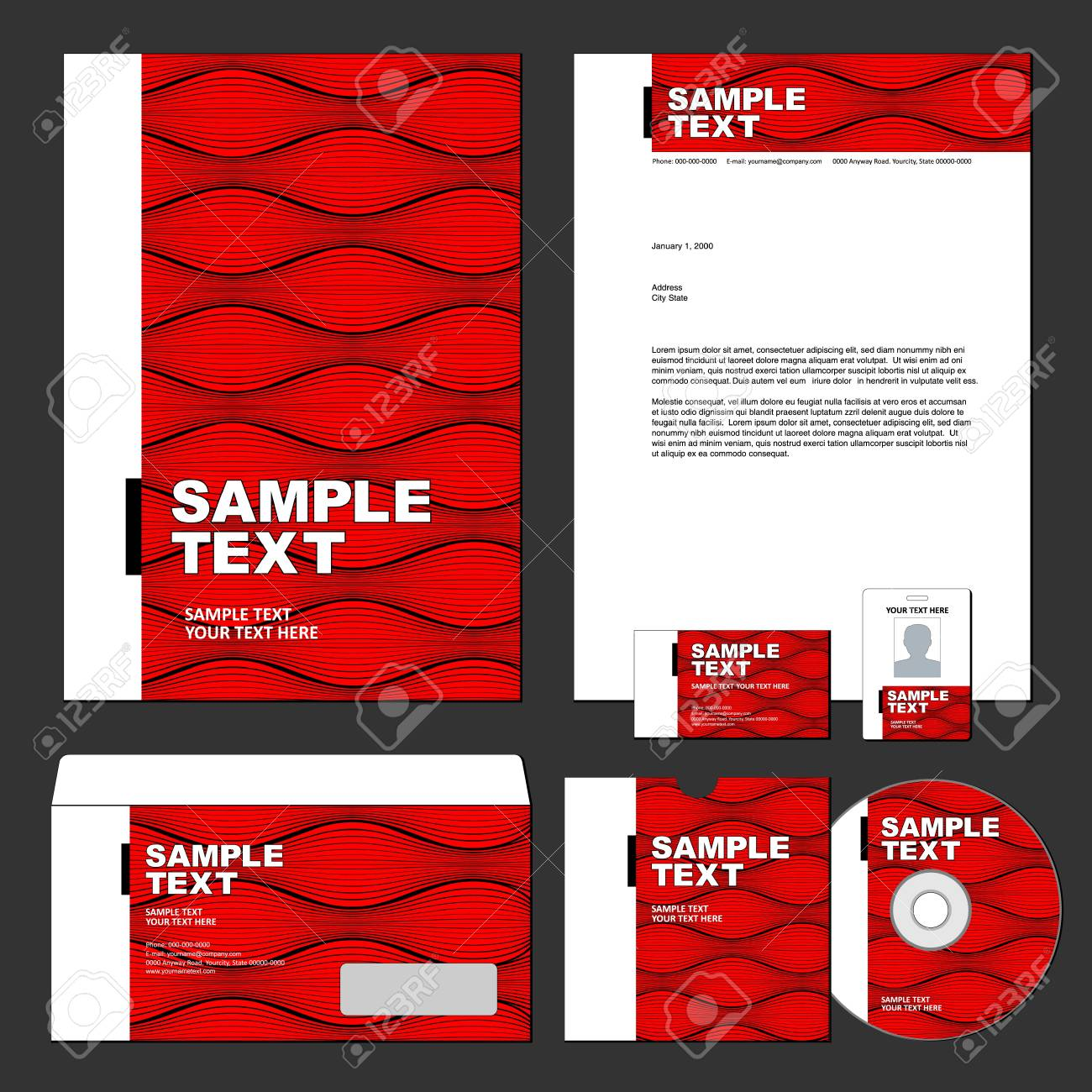 Business template Stock Vector - 13376585
