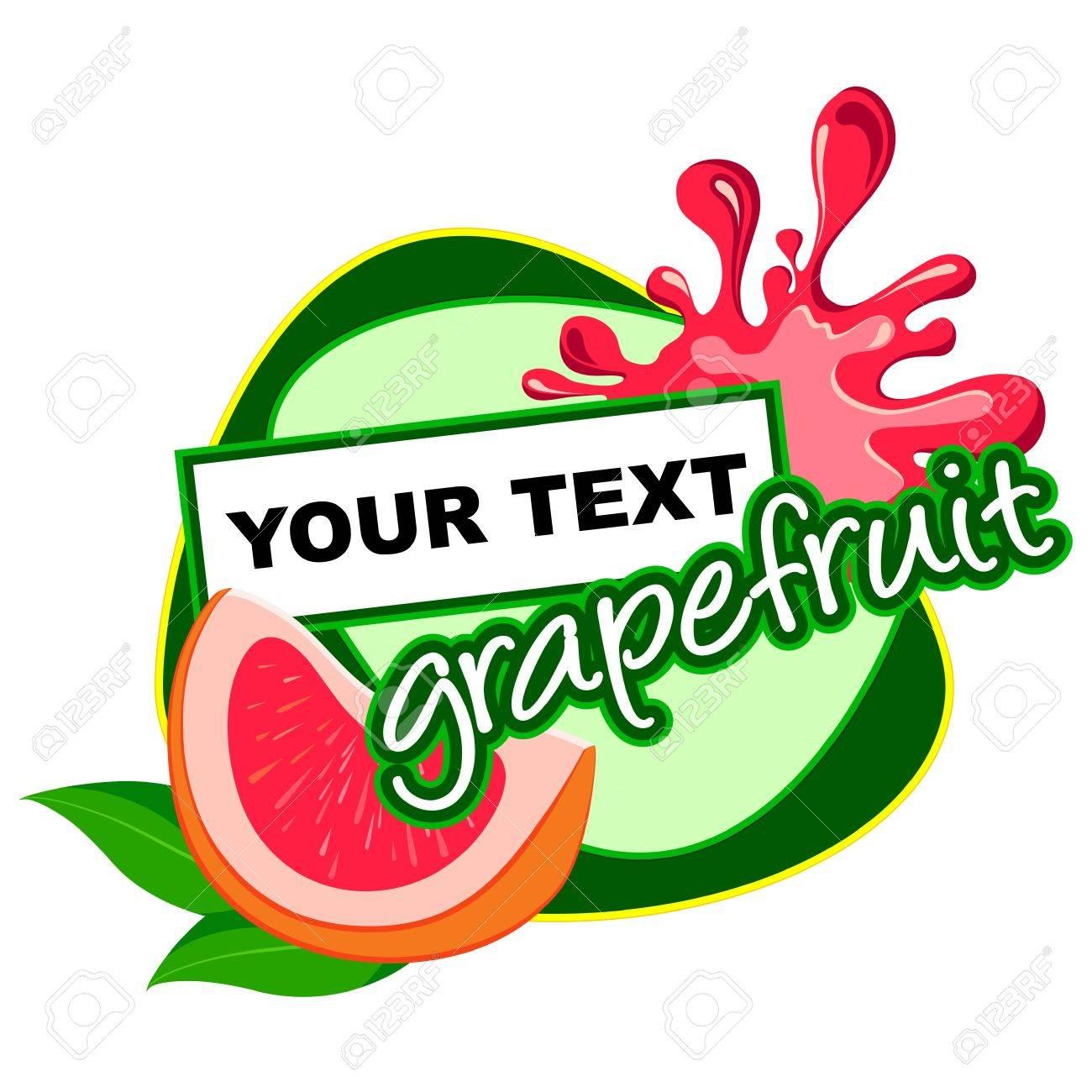 Grapefruit label desidn Stock Vector - 13932184