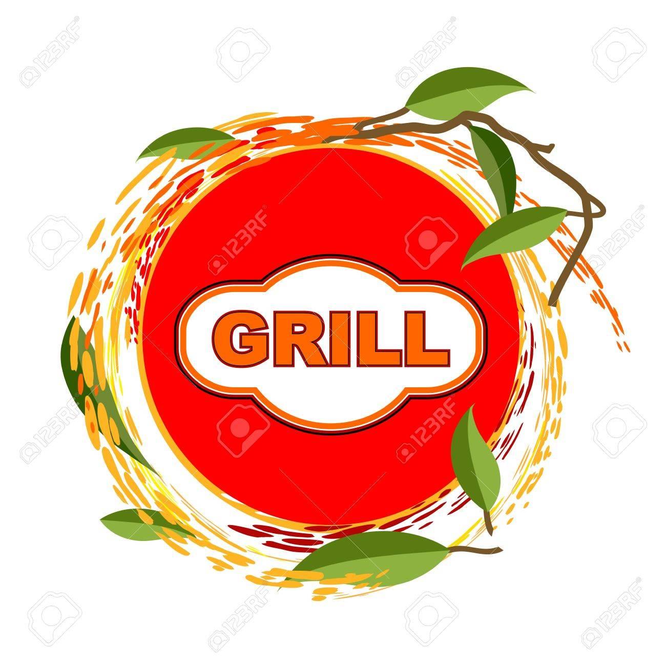 Grill sticker background design Stock Vector - 20978412