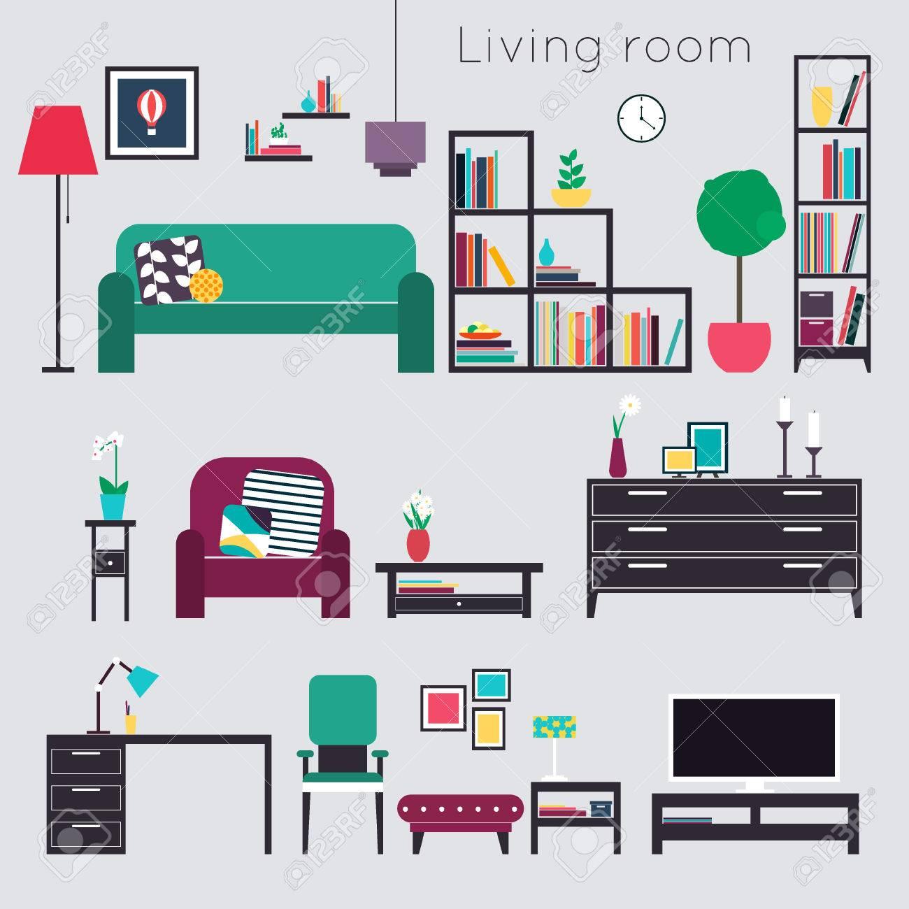 Wohnzimmer Mobel Und Wohnaccessoires Lizenzfrei Nutzbare
