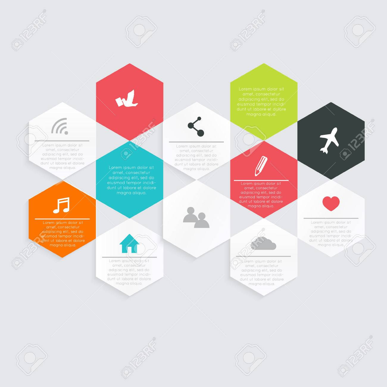 Vector colorful info graphics for your business presentations. - 36766420