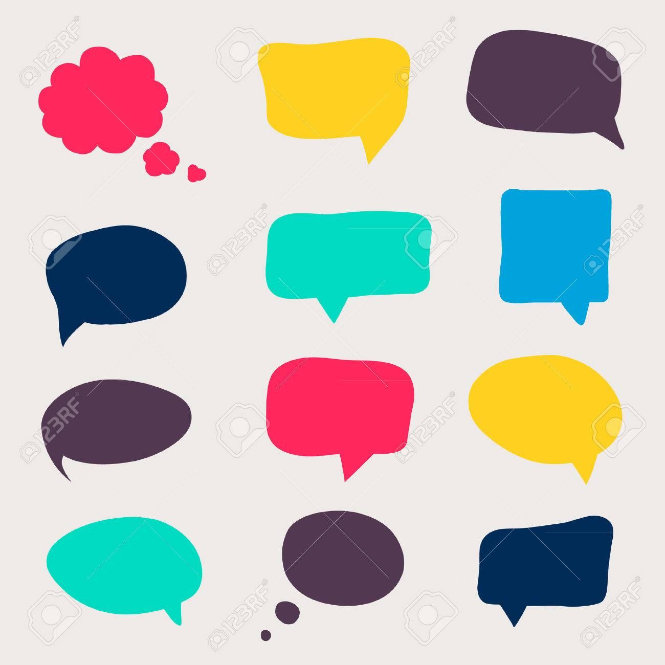 Colorful questions speech bubbles. - 36766319