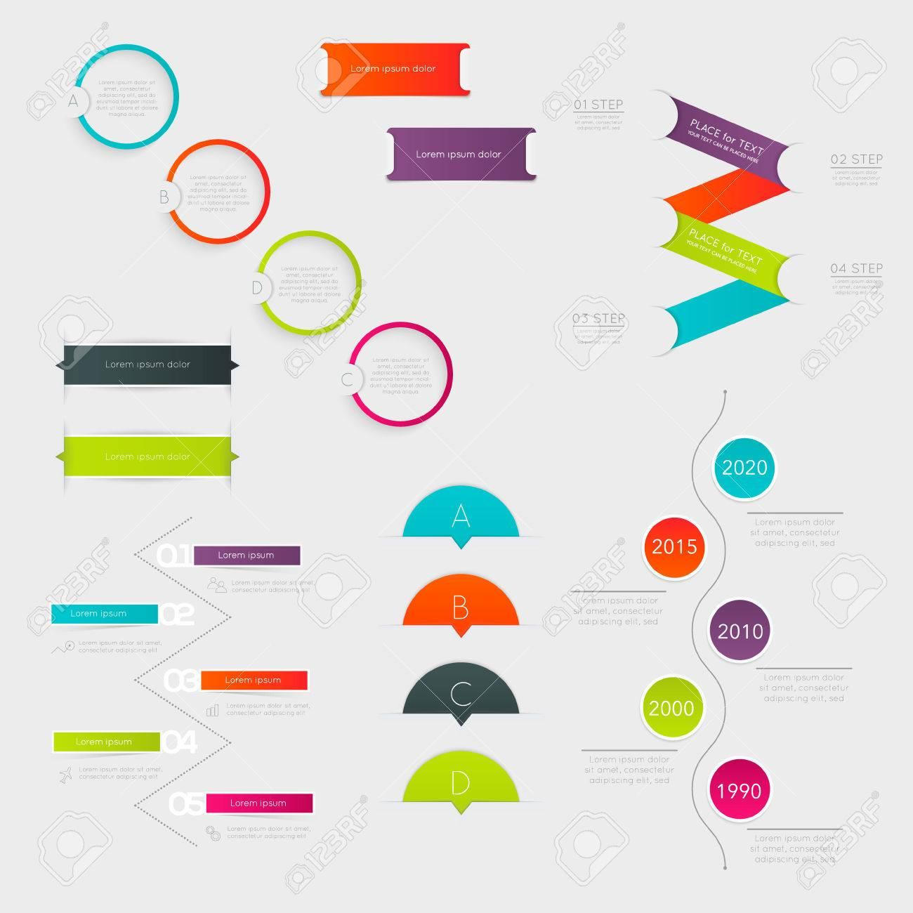 Conjunto De Cuadro De Texto Colorido Con Medidas, Colores De Moda ...