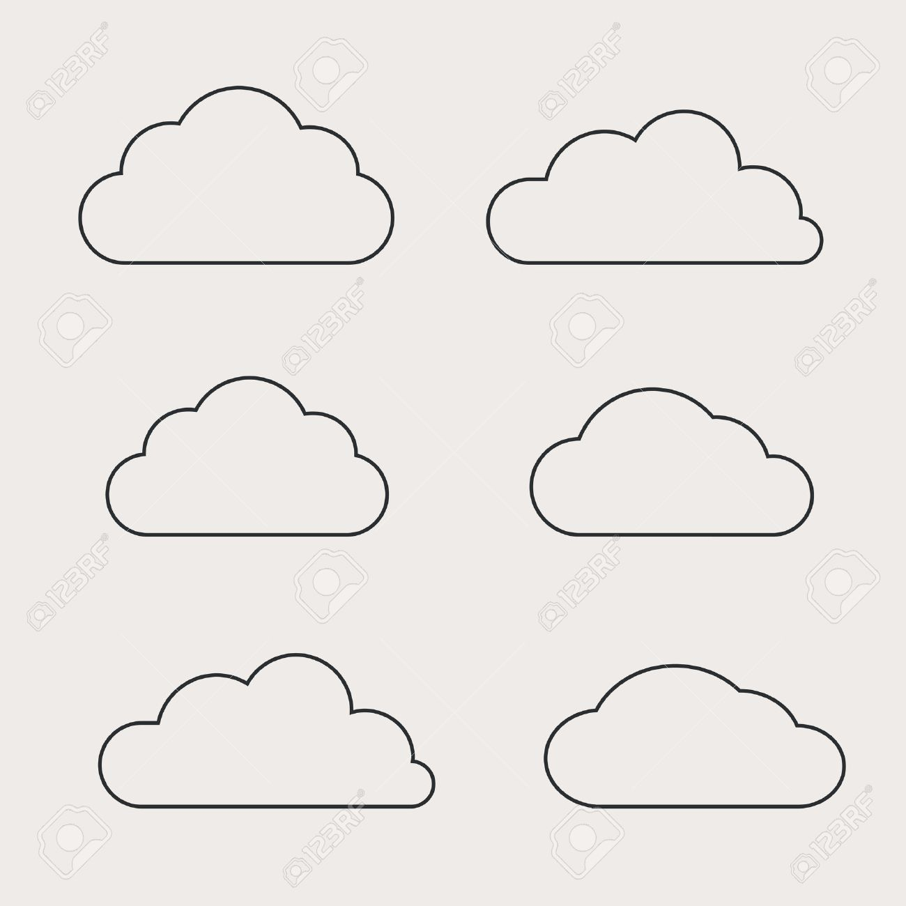 Cloud shapes collection. Cloud icons for cloud computing web and - 36763959