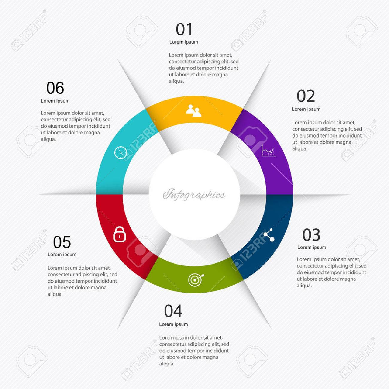 Business data market elements dot bar pie charts diagrams and graphs flat icons set. Can be used for info graphics, graphic or website layout vector, numbered banners, diagram. Vector illustration. - 40285094