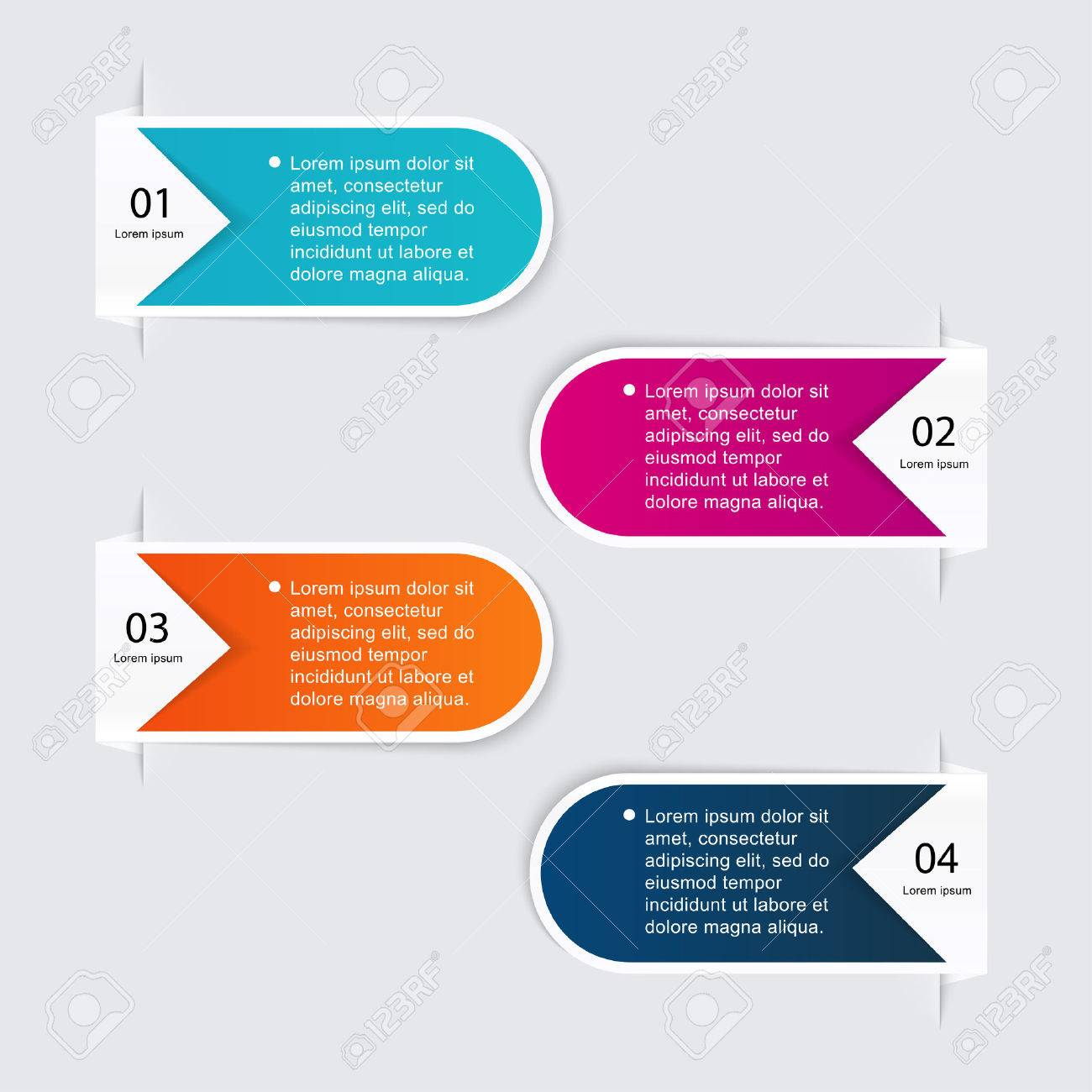 Vector colorful info graphics for your business presentations. Can be used for info graphics, graphic or website layout vector, numbered banners, diagram, horizontal cutout lines, web design. - 40285362