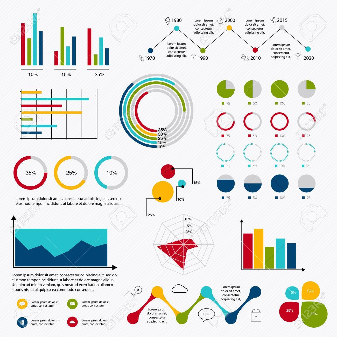 Business data market elements dot bar pie charts diagrams and business data market elements dot bar pie charts diagrams and graphs flat icons set can ccuart Gallery