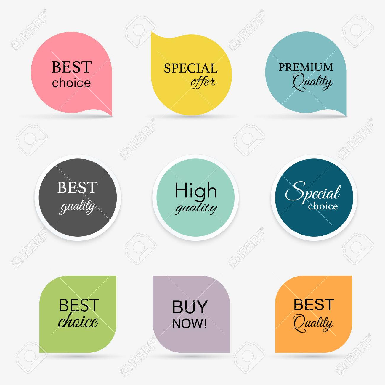 Collection of promo seals/stickers. Isolated vector illustration - 41059131