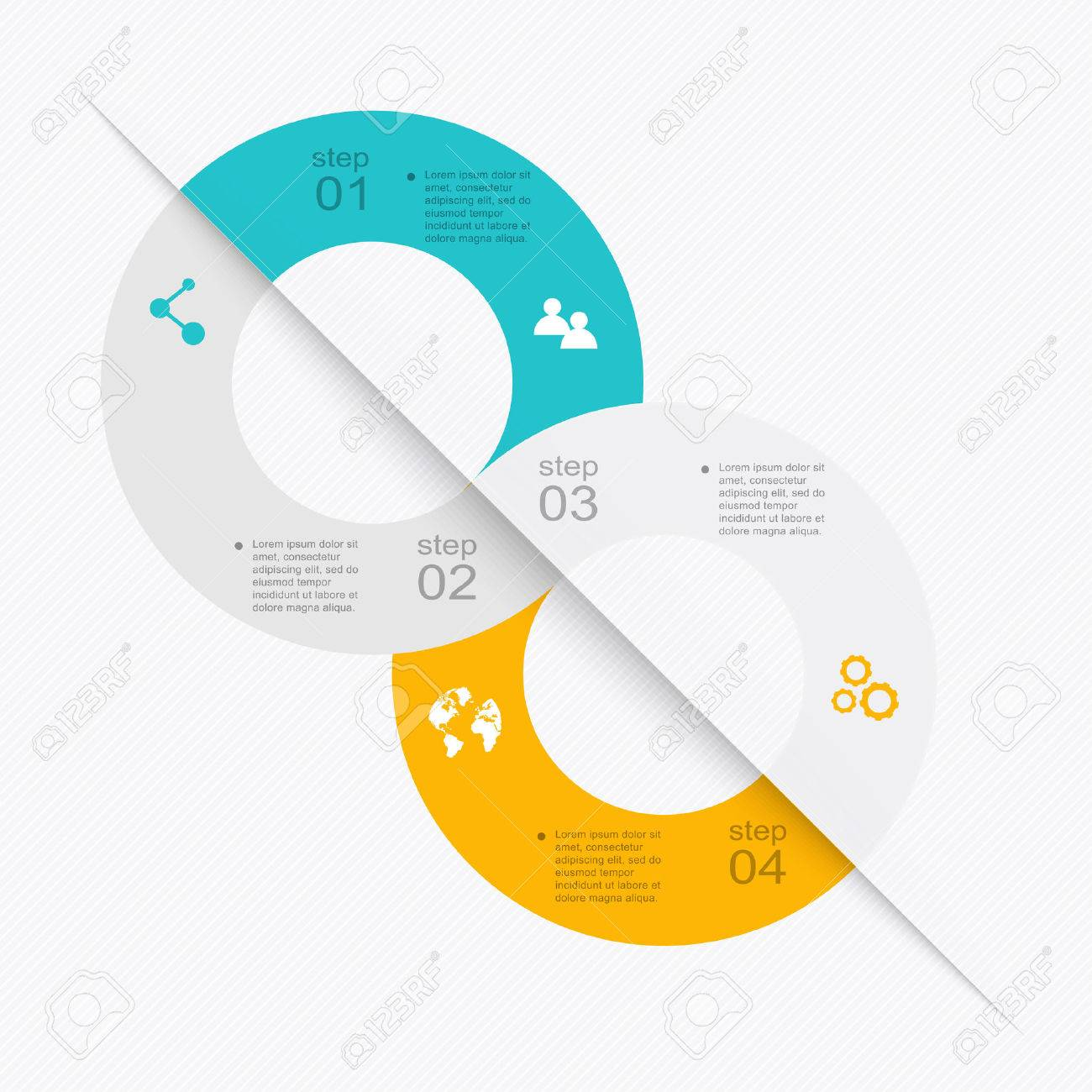 Vector colorful info graphics for your business presentations. Can be used for info graphics, graphic or website layout vector, numbered banners, diagram, horizontal cutout lines, web design. - 41366261