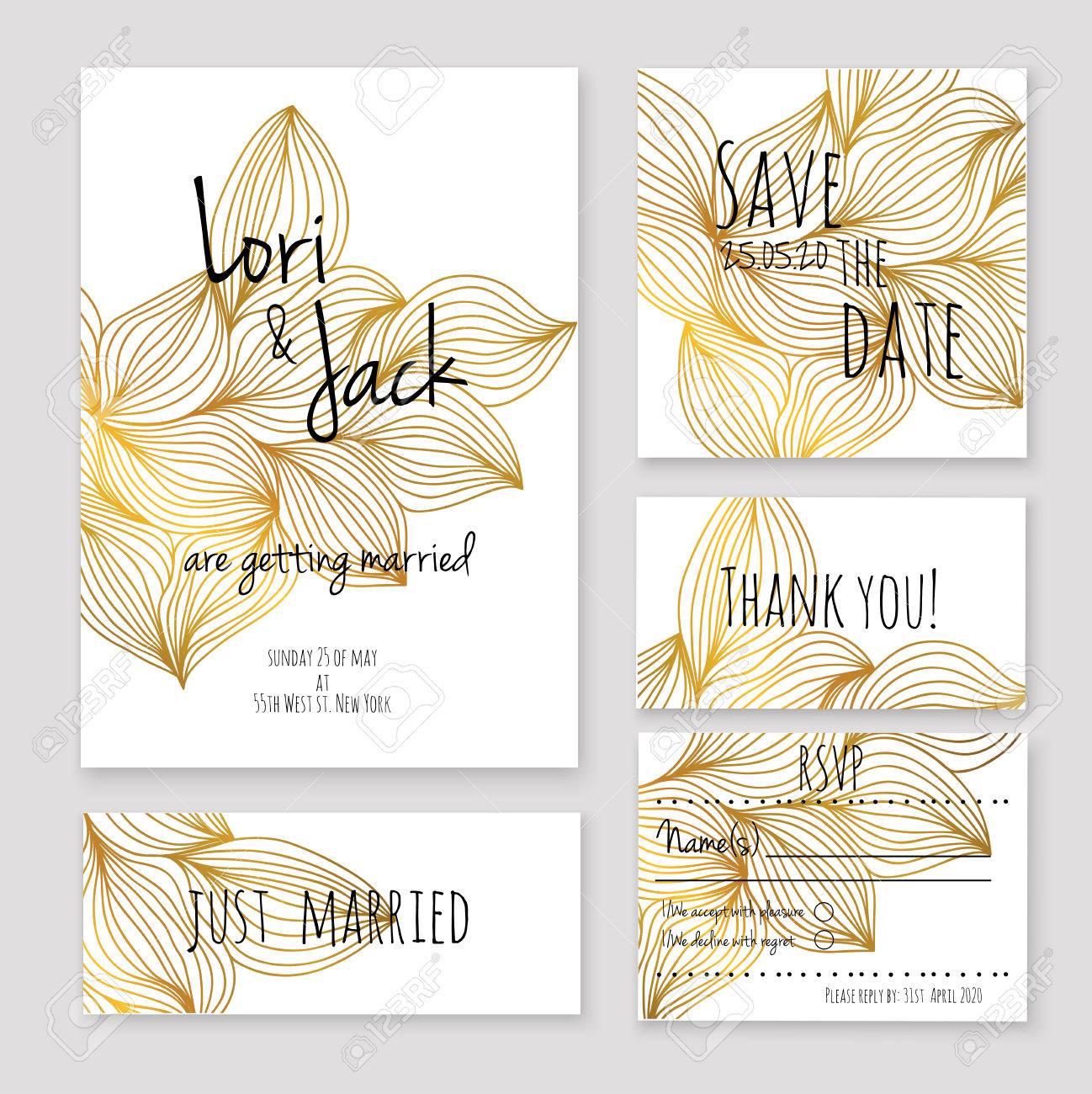 Wedding invitation card set. - 44057455
