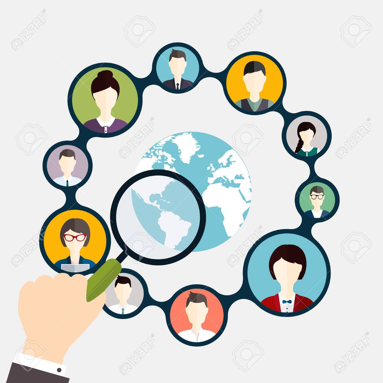 Social Networking and Social Media avatar Concept. - 45870632