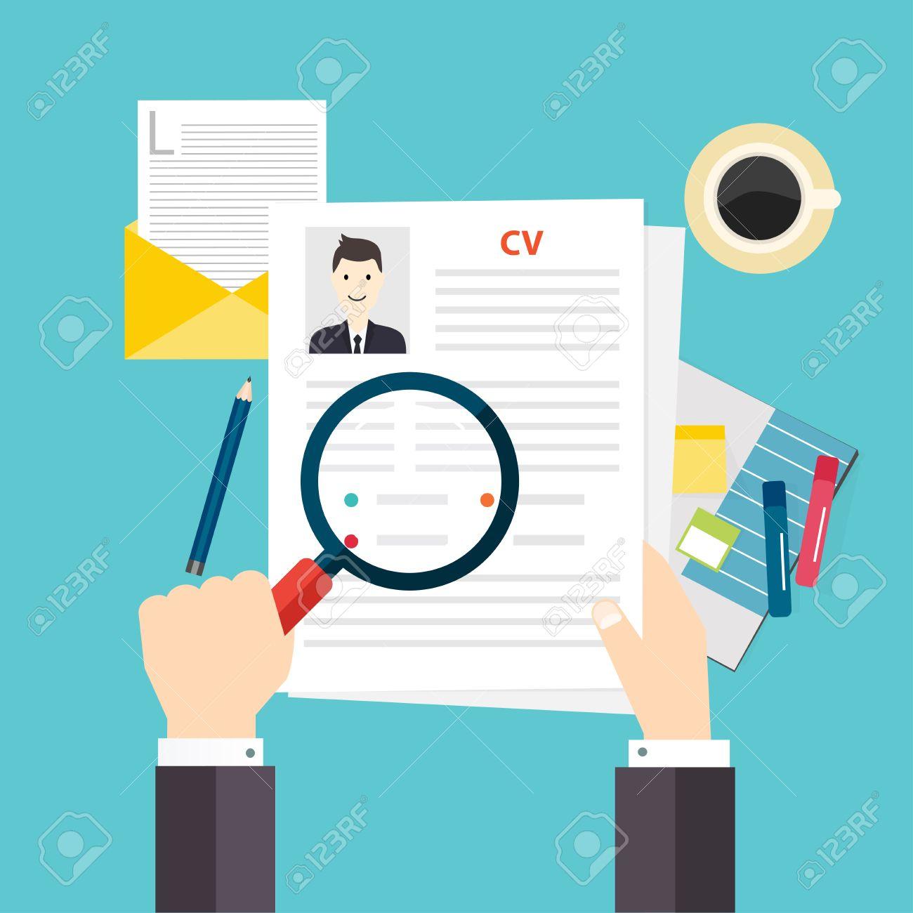 cv resume job interview concept writing a resume royalty cv resume job interview concept writing a resume stock vector 47558158