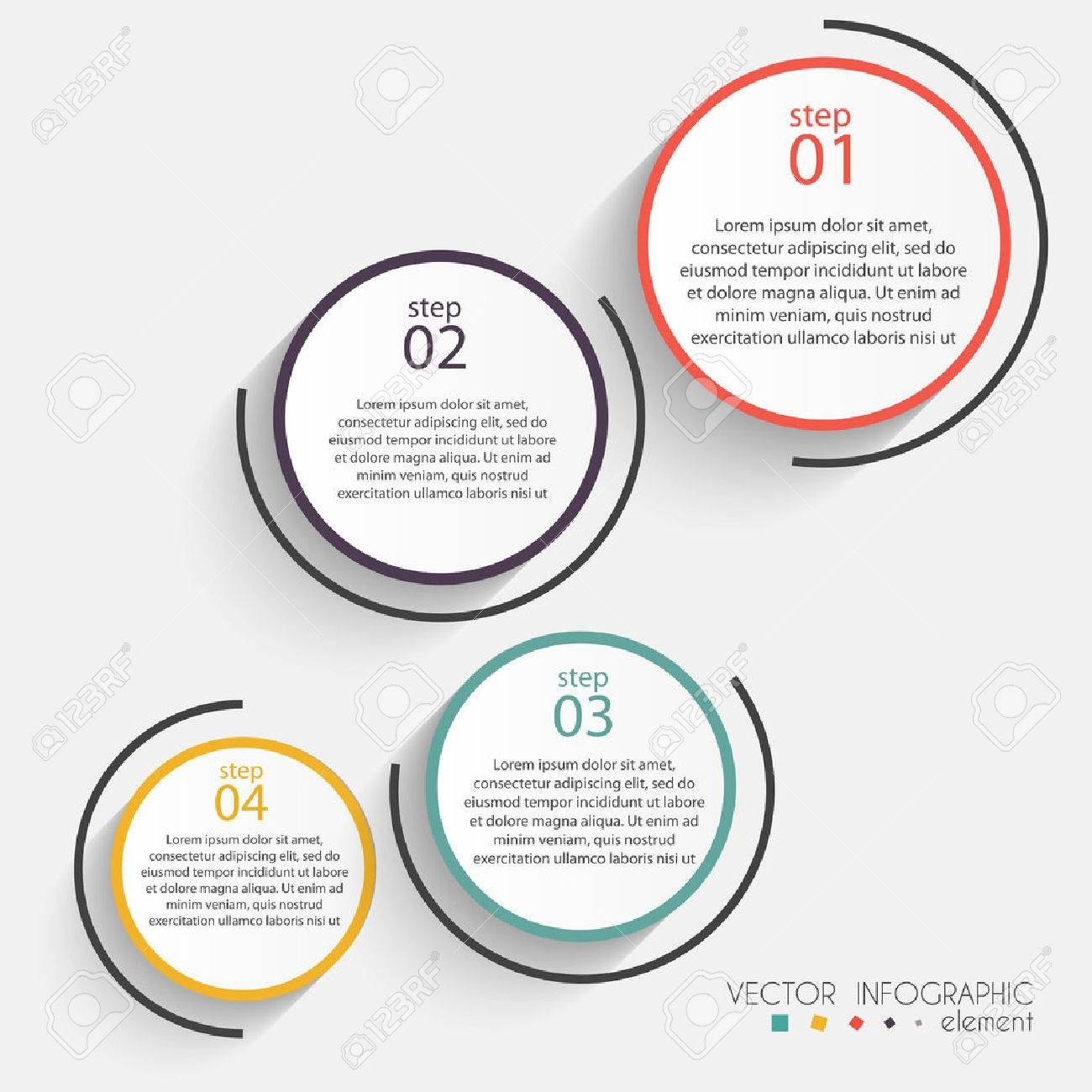 Vector colorful info graphics for your business presentations. Can be used for info graphics, graphic or website layout vector, numbered banners, diagram, horizontal cutout lines, web design. - 48037141