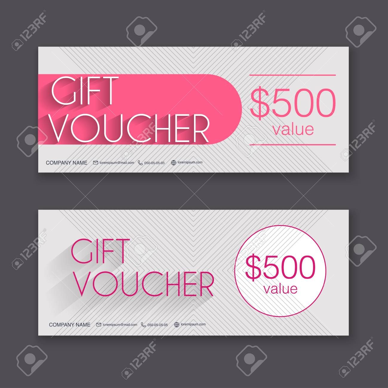 Gift Voucher Template With Colorful Pattern Gift Certificate Royalty Free Cliparts Vectors And Stock Illustration Image 50354609