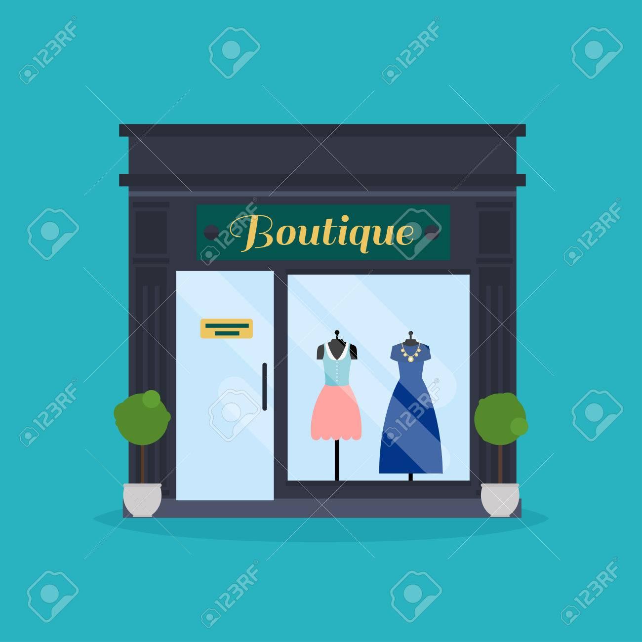 Fashion boutique facade. Clothes shop. Ideal for market business web publications and graphic design. - 51629101
