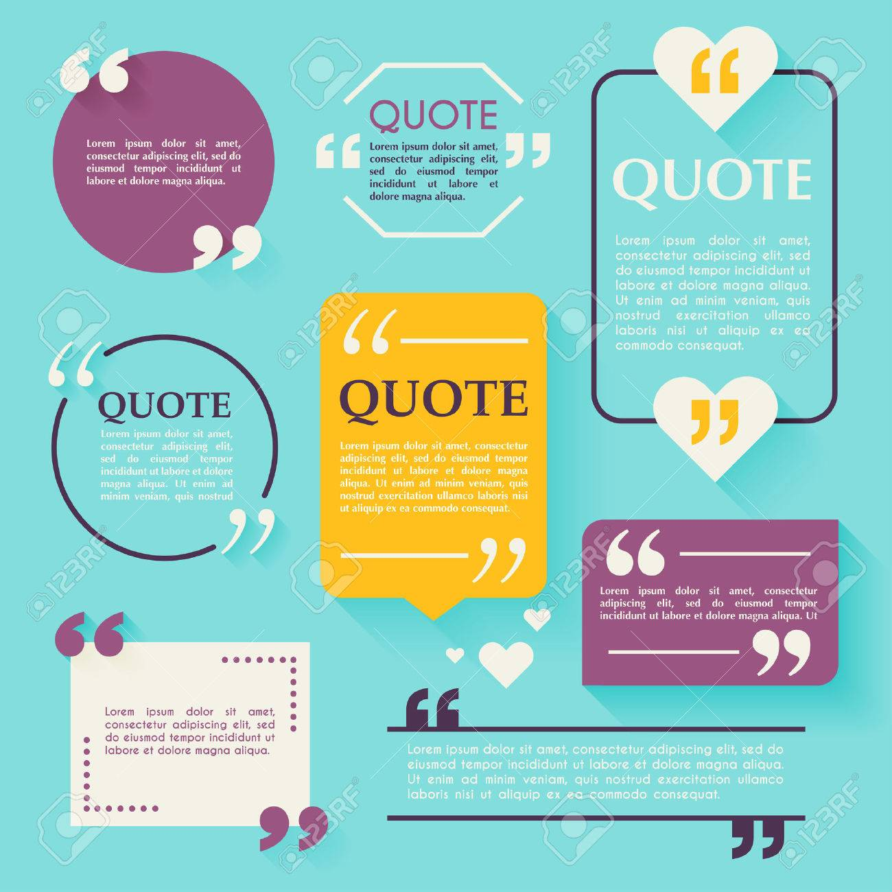 Quote blank template design elements circle business card quote blank template design elements circle business card template paper sheet information magicingreecefo Image collections