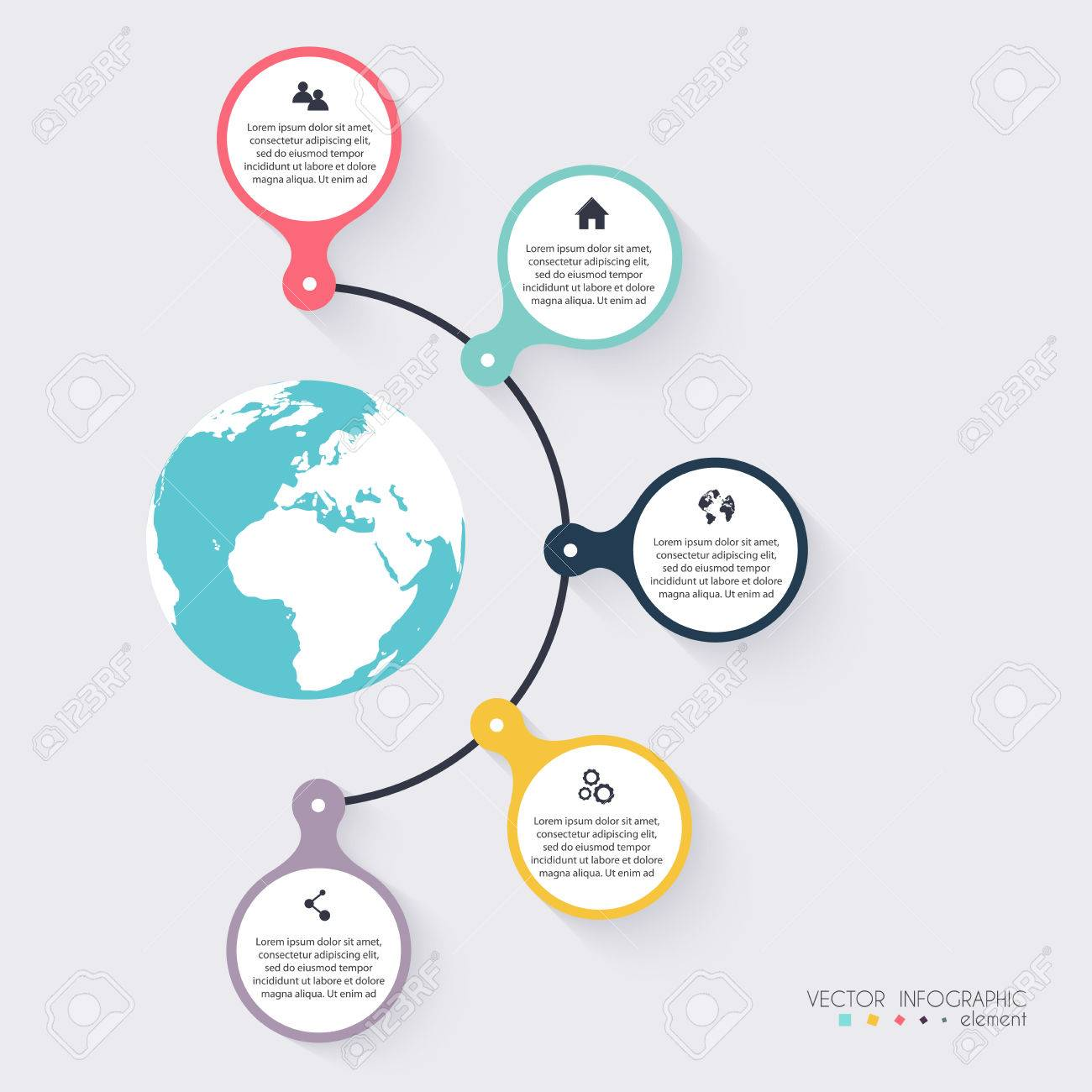 Vector colorful info graphics for your business presentations. Can be used for info graphics, graphic or website layout vector, numbered banners, diagram, horizontal cutout lines, web design. - 53411430
