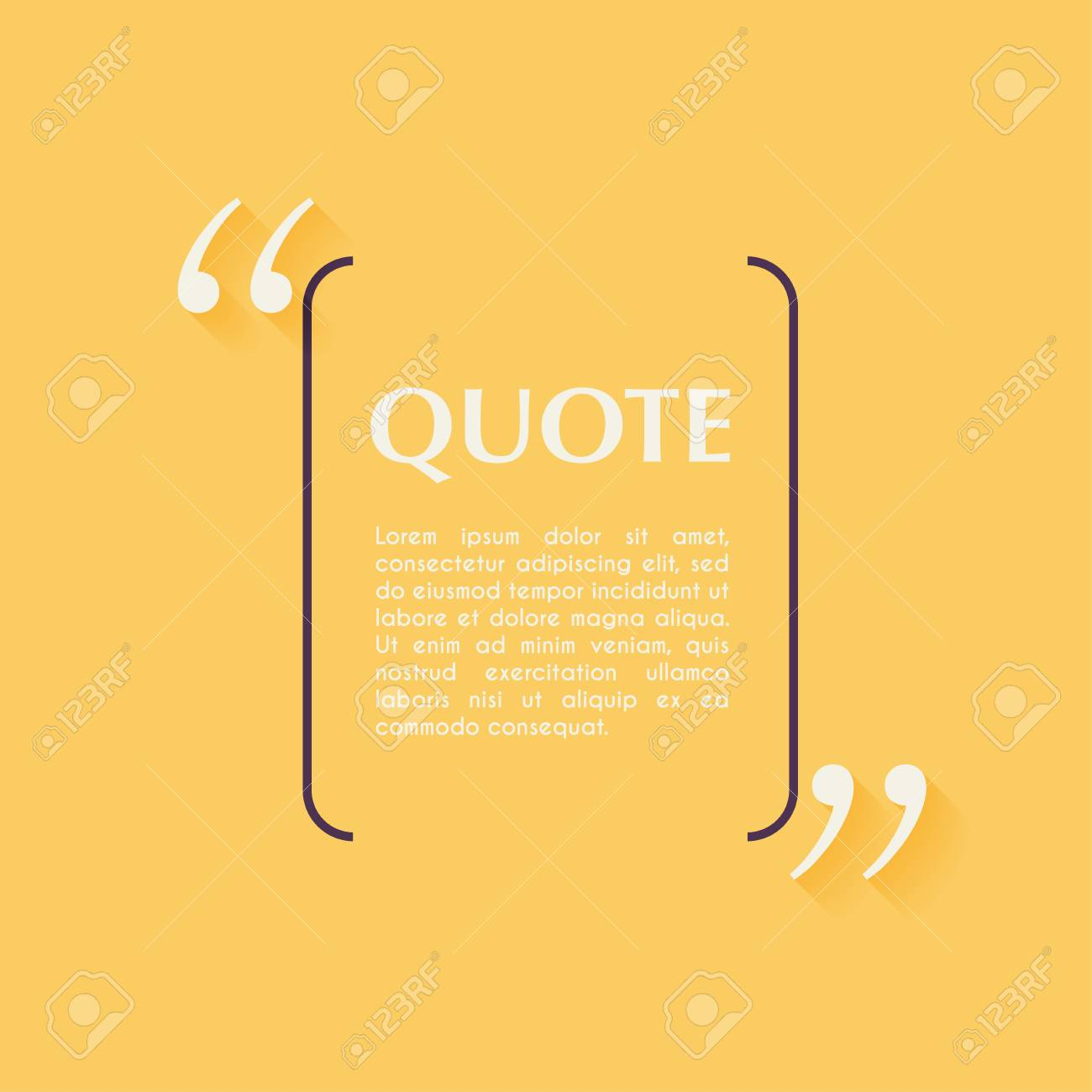 Quote blank template design elements circle business card template quote blank template design elements circle business card template paper sheet information reheart Images