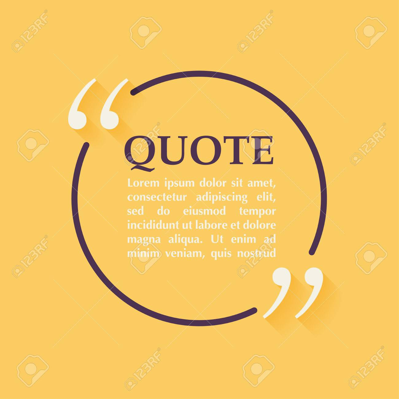 quote blank template design elements circle business card template
