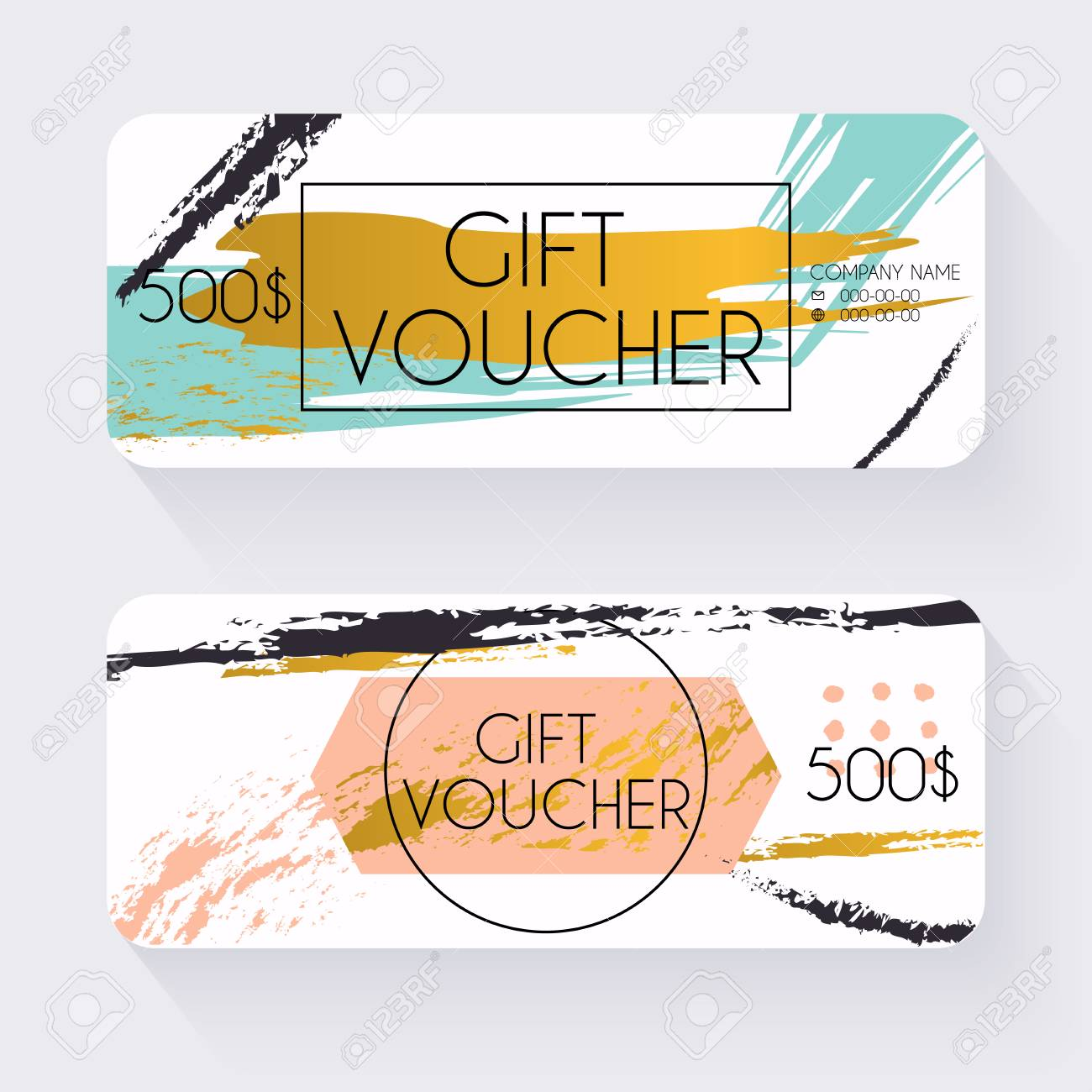 Gift voucher template with gold background gift certificate gift voucher template with gold background gift certificate background design gift coupon voucher yadclub Gallery