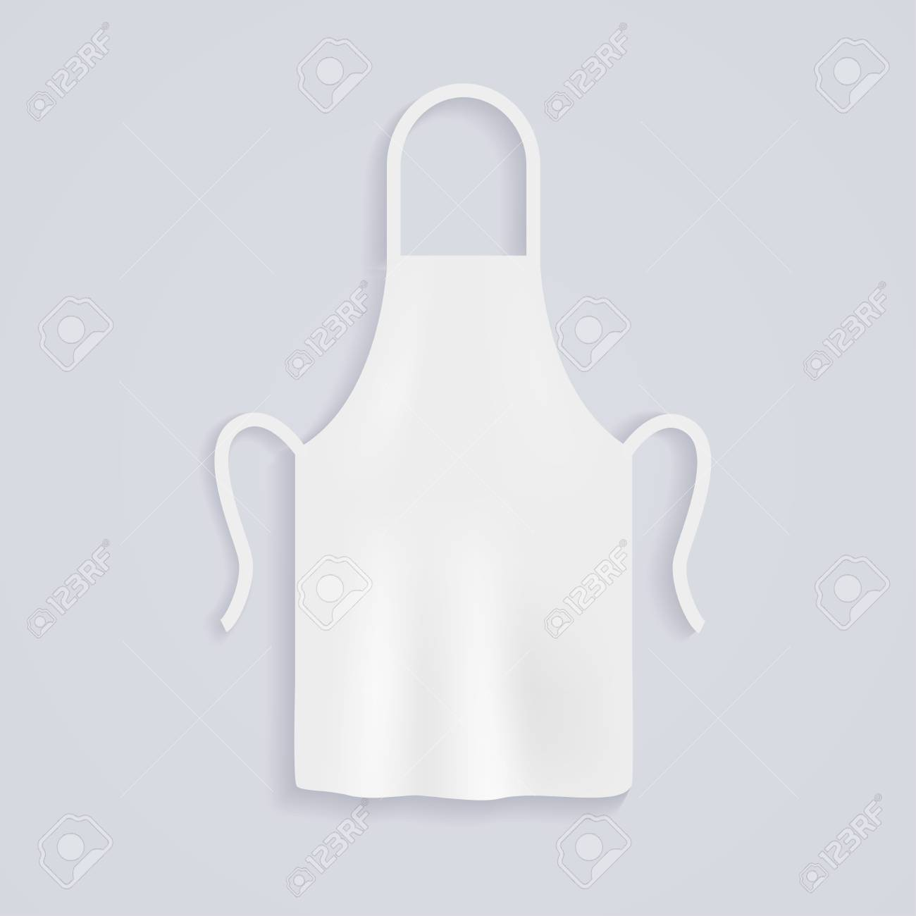 White Kitchen Aprons. Chef Uniform For Cooking. Vector Illustration ...