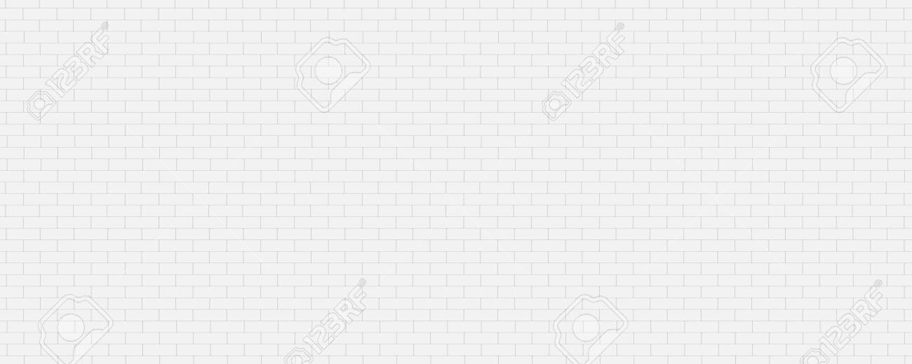 Panorama white brick walls that are not plastered background and texture. The texture of the brick is white. Background of empty white tile ceramic wall. - 142748330