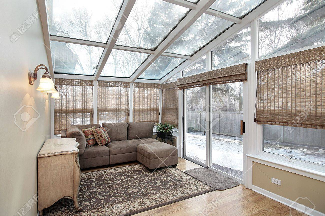 Family room with skylights and door to back yard Stock Photo - 6732419 & Family Room With Skylights And Door To Back Yard Stock Photo ... Pezcame.Com