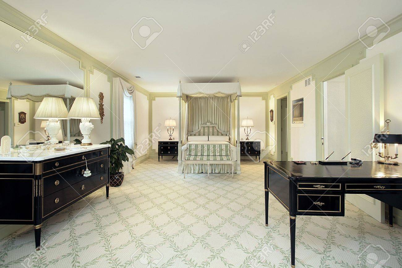 Large Master Bedroom Traditional Large Master Bedroom In Luxury Home Stock Photo