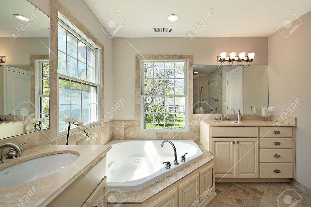 Master bath with tub in new construction home Stock Photo - 6733223