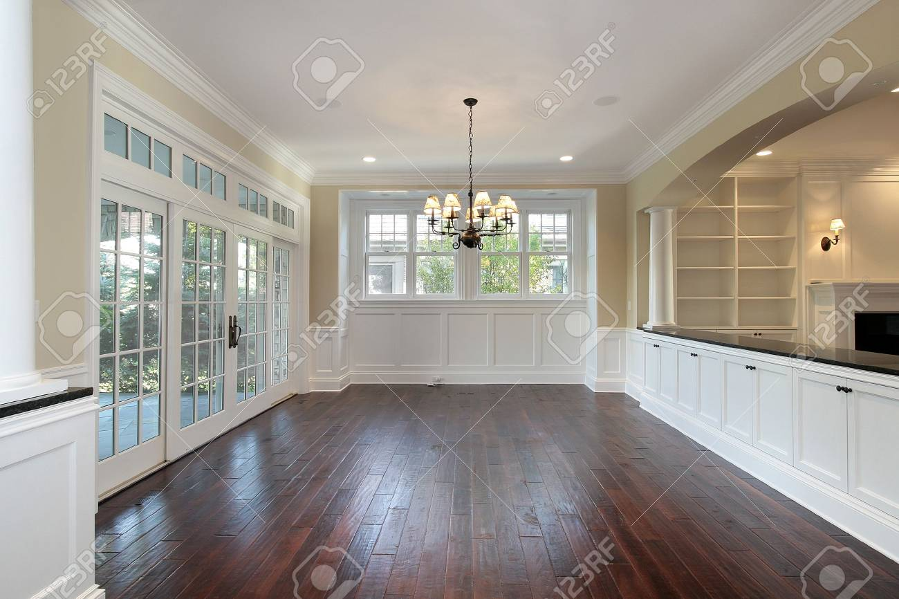 Dining room in new construction luxury home Stock Photo - 6738889