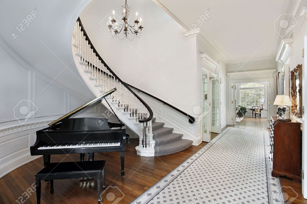 Foyer in luxury home stock photo, picture and royalty free image ...