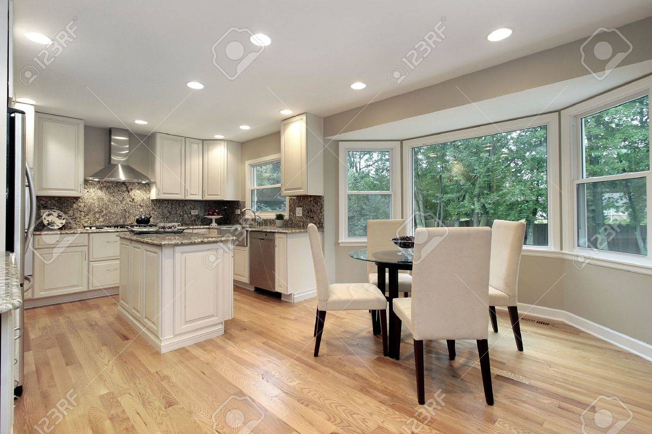 Kitchen in suburban home with eating area Stock Photo - 6738479