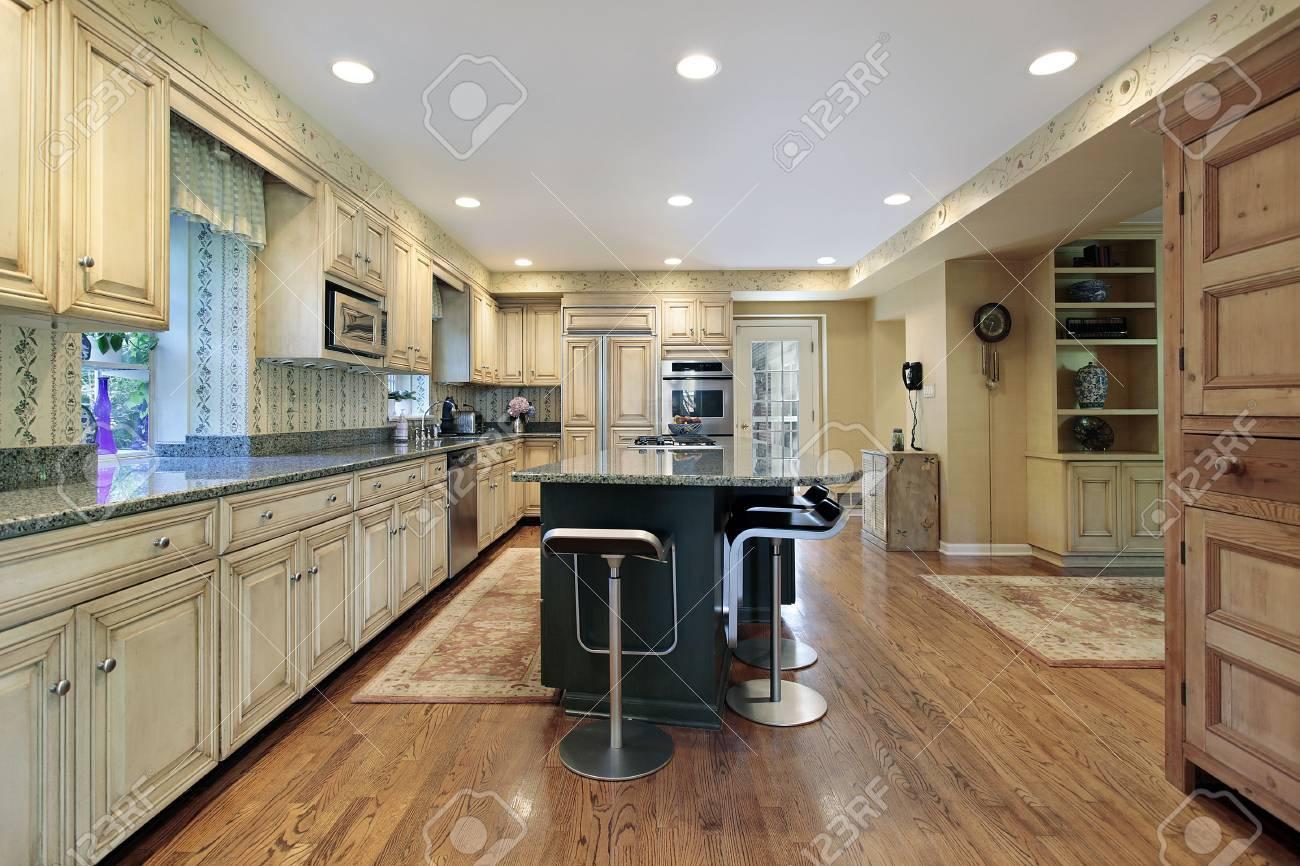 Kitchen with center island Stock Photo - 6739865